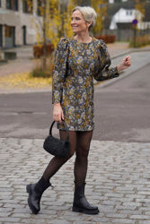 Fonda mini dress Blomstret