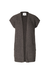 Blanche Knit Waistcoat Mørkebrun