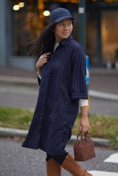 Ellis Shirt Dress Marineblå