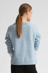 Lulu LS Knit V-neck Cashmere blue