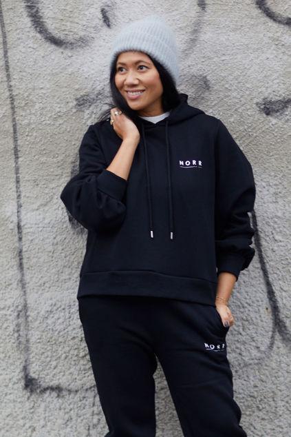 Denver logo hoodie Sort
