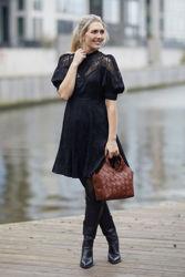 Jacquard lace mini dress Sort