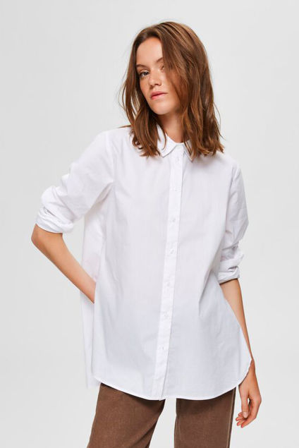 Ori LS Side Zip Shirt Hvit