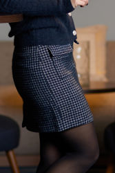 Clea Skirt Marineblå