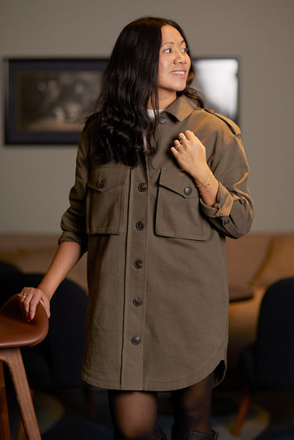 Betony Shirt Dress Army