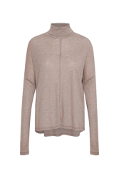 Close to Home Rollneck Beige melert