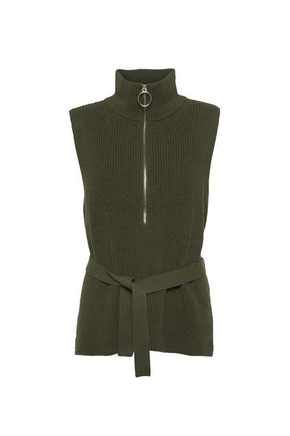 Marta waistcoat Army