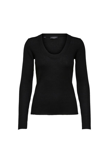 Costa New LS Knit Deep-U Neck Sort