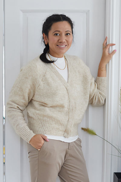 Brook Knit Boxy Cardigan Sand