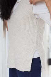 Helena Knit Vest V-neck Beige melange