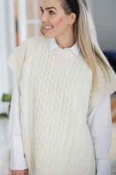 Eva Knitted Gilet Ecru