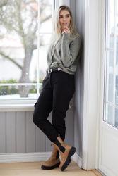 Mia Cardigan Grønn/Beigemelert