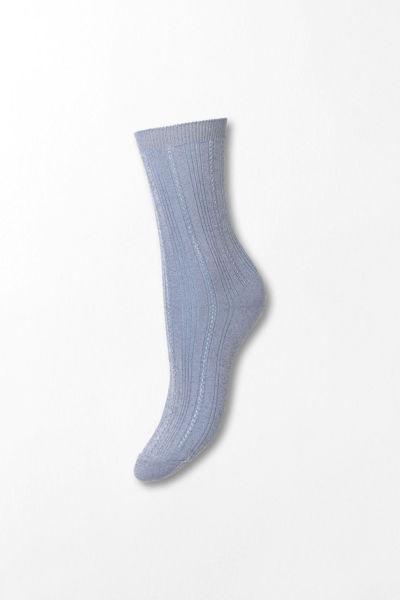 Glitter Drake Sock Blå glitter