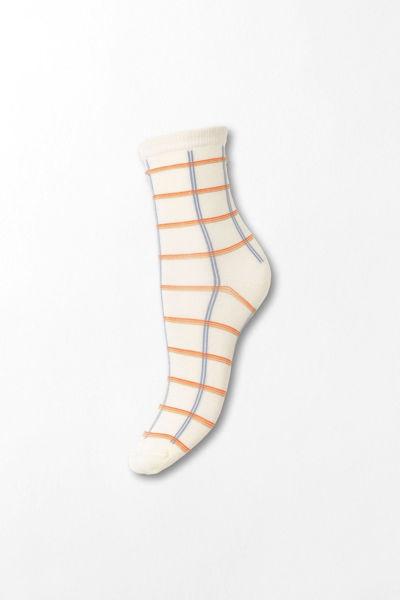 Square Rainbird Sock Offwhite rutete