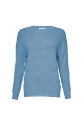 Femme Mohair O Pullover S Lake Blue