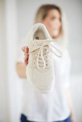 Flavia Sneakers Lys beige/Hvit
