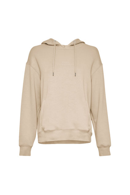 Ima DS Logo Hood Sweatshirt Beige