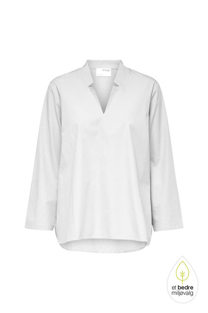 Sanne LS V-neck top Hvit