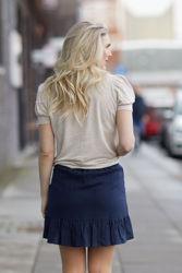 Hana linen skirt Navy