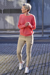 Femme Mohair O Pullover Coral