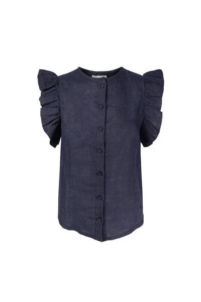 Pauline linen shirt Navy