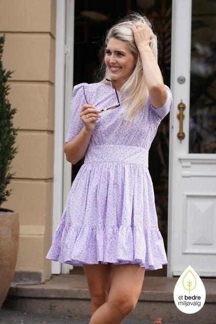 Poplin Mini Dress Lilac