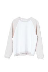 Seijaku sweatshirt Bright white block
