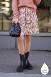 Camly Rikkelie Skirt AOP Bellini Leaf