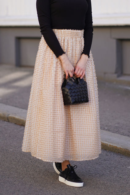 Dosky HW Maxi Skirt G Hvit