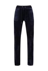 Del Ray Classic Velour Pant Pocket Design Night Sky