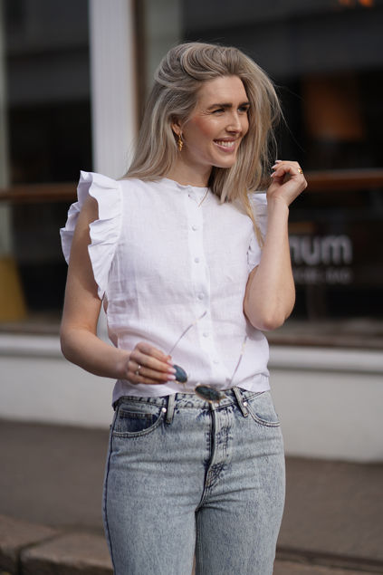 Pauline linen shirt Hvit
