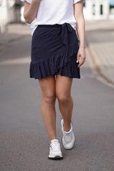Juliette linen skirt Navy