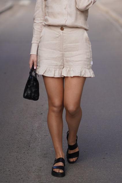 Mynthe linen shorts Beige