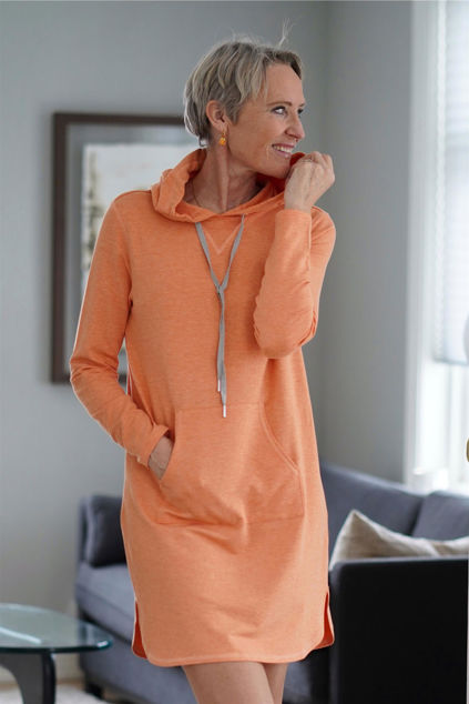 Whitney Hood Dress Oransje