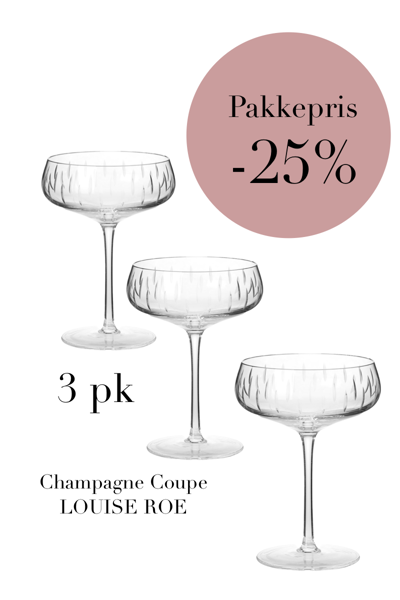 3-pack Champagne Clear