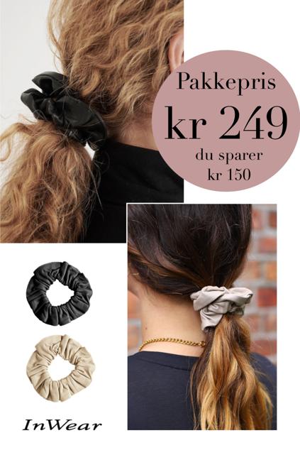 Hair Tie 2-pack Sort/sand