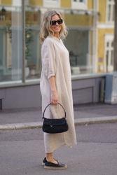 Ebbi Long Dress Light beige