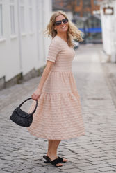 Vanya Dress Cream Tan