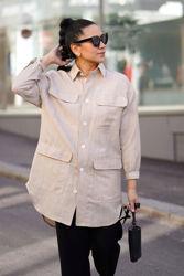 Vinnie Shirt Dress Camel melange