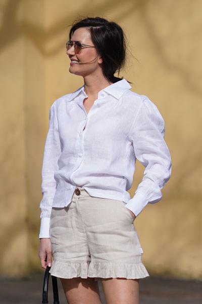 Hedda linen shirt Hvit