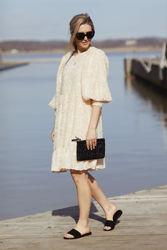 Daniela 3/4 Dress Sandshell