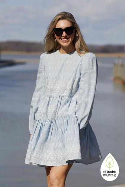 Linen Mini Dress Light Blue