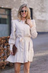 Silja linen dress Beige