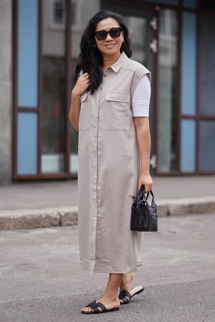 Leeja Shirt Dress Pure cashmere