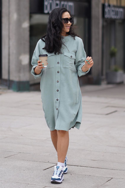 Jett Shirt Dress Grønn
