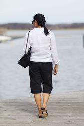 Laurel Long Denim Shorts Sort
