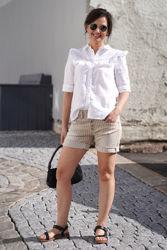 5B Shorts Beige Stripe Beige