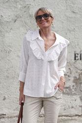 Vita Ruffle Shirt Hvit