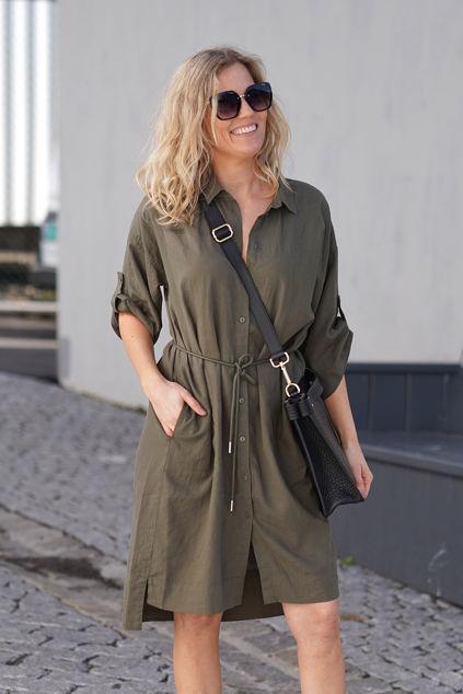 Driza Dress Beetle Green