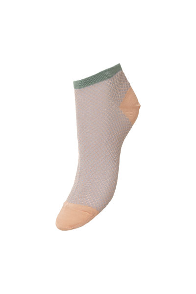Dollie Harlequin Sock Dusty Pink